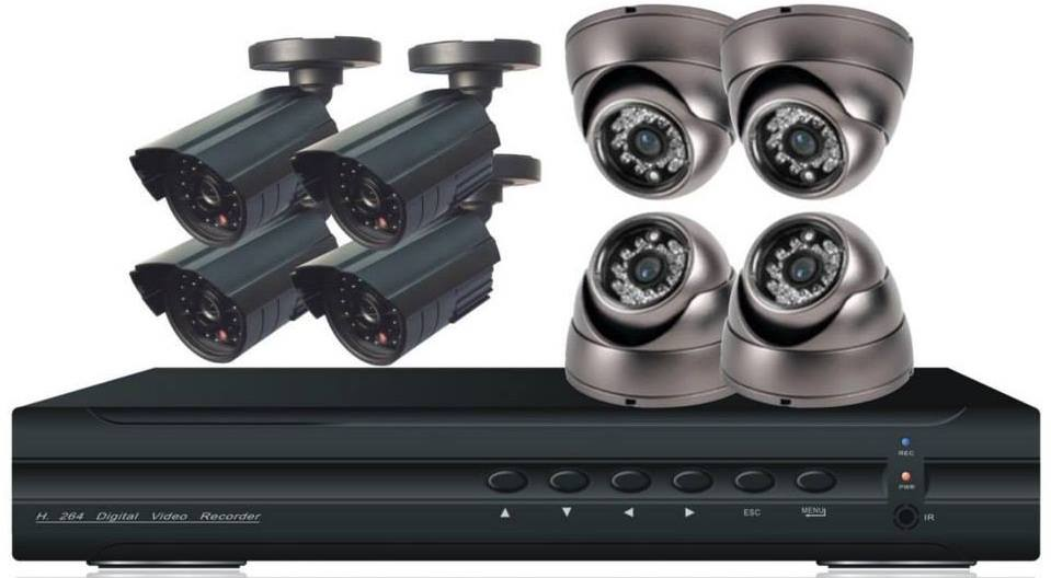 how to connect security camera dvr to tv